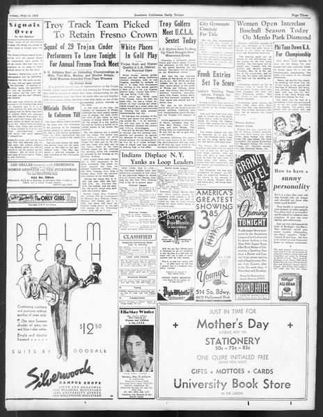 Daily Trojan, Vol. 24, No. 142, May 12, 1933