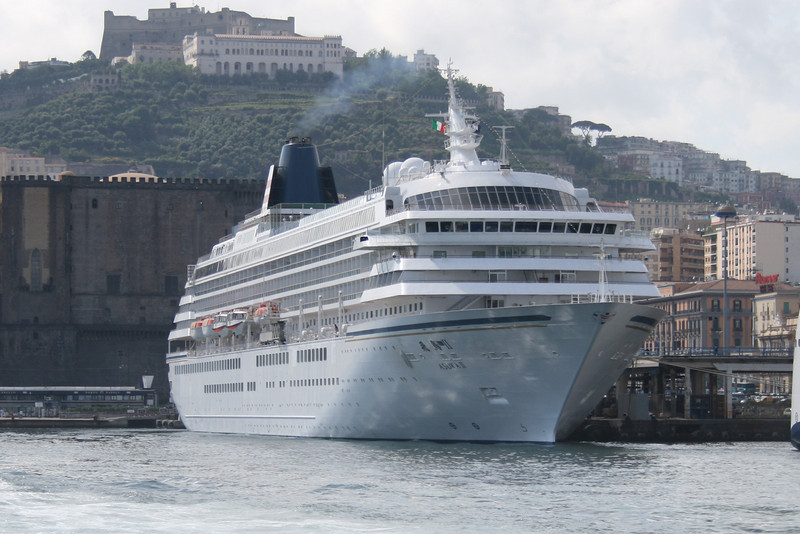 Japanese cruise ship ASUKA II in Napoli.