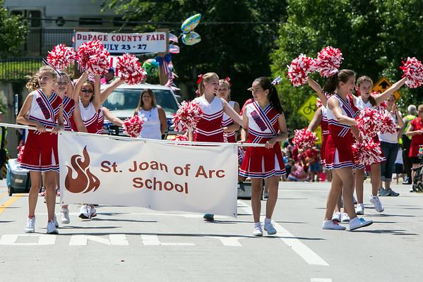 SJA Cheer-4th of July Parade (2014-07-04)