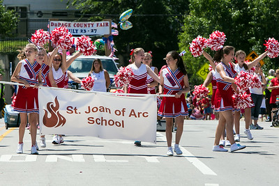 SJA Cheer-4th of July Parade (2014-07-04)