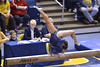 MORGANTOWN, WV - MARCH 8: WVU gymnast Brooklyn Doggette competes on the balance beam during a dual meet March 8, 2015 in Morgantown, WV.