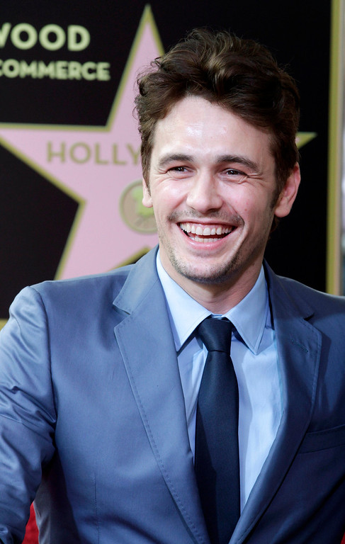 . Actor James Franco smiles during ceremonies unveiling his star on the Hollywood Walk of Fame, in Hollywood March 7, 2013. REUTERS/Fred Prouser