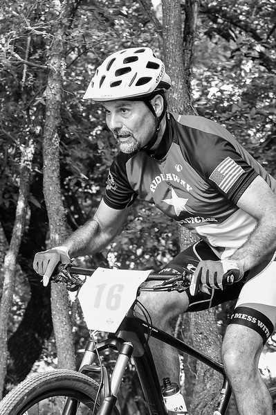 60+ mountain bike riders blaze the trails at MCAllister Park attempting to complete the best time trial possible May 28, 2017. Hill Country Sports Association hosts the Triple Threat Time Trial Series, a 4 part series sanctioned through USAC.