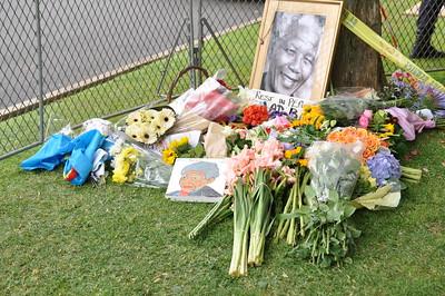 Nelson Mandela's Private Residence   Houghton   4th Street   December 6, 2013   Johannesburg, South Africa
