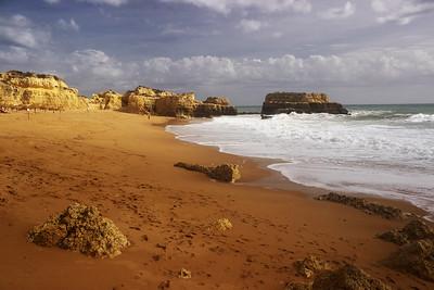 Portugalsko říjen 2015 - pátý den - Praia do Castelo, Praia do Evaristo, Praia de Sao Rafael, Lagoa dos Salgados