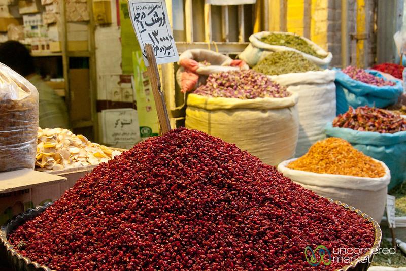 Pile of Dried Barberries - Shiraz, Iran