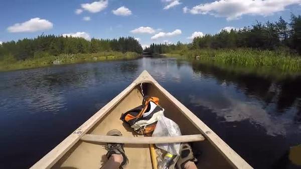 Gilford Lake in the Lake Superior headwaters way north of Thunder Bay, Ontario, Canada.mp4