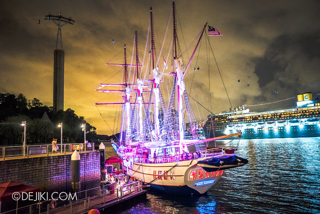 Royal Albatross Tall Ship docked at Adventure Cove Waterpark, Resorts World Sentosa Singapore