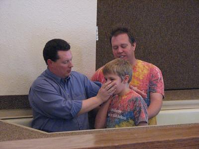 David's Baptism Service