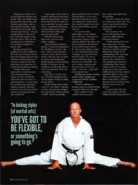 Shihan Martin Day of Combat Karate Noosa Featured in Blitz Martial Arts magazine November 2014