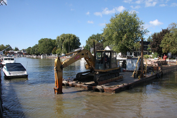 Vermilion, our dock and bulkhead gets a needed Makeover, October 2010
