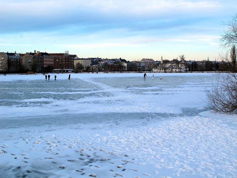 Istid - januar 2010 Sankt Jørgens Sø frosset til