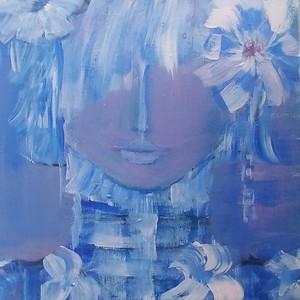 """""""Beautiful Soul. Beautiful Spirit."""" (acrylic) by Luciana Fabiilli"""