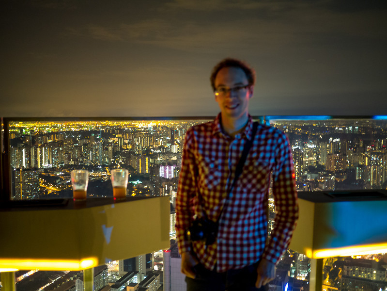 Dan with Singapore in the background. Wrong focus point unfortunately.