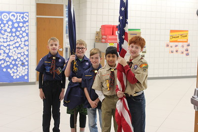 Veterans Day assembly at Humann Elementary