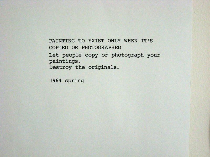 "Yoko Ono (Japan), ""Instructions pieces,"" 1960-2009"