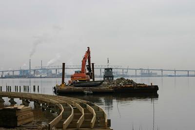 Boardwalk Construction - Jan. 25, 2006