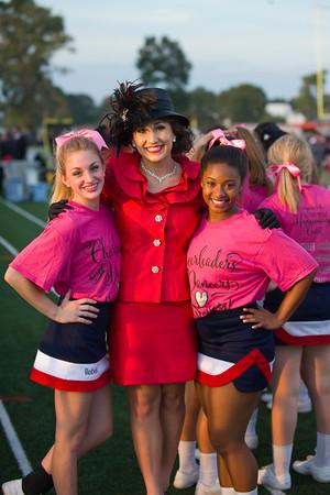 2015 Dansceteam, Cheerleaders, and Fans at NHS game