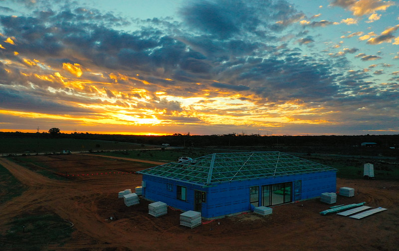 Sunset towards Barmera