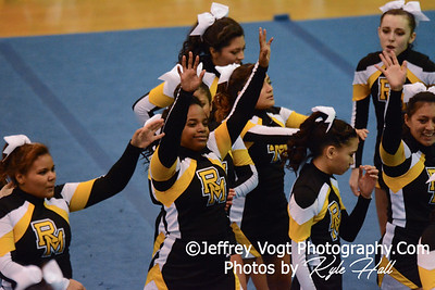 11-15-2014 Richard Montgomery HS Varsity Cheerleading at Blair HS MCPS Championship, Photos by Jeffrey Vogt Photography with Kyle Hall