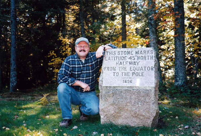 2002 - Doug at 45th Parallel, Maine.jpg