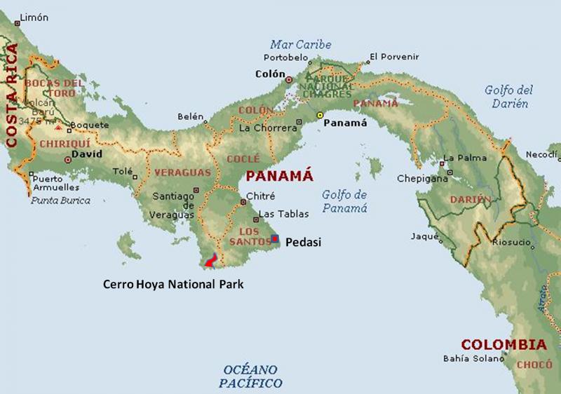 Pedasi Panama Map