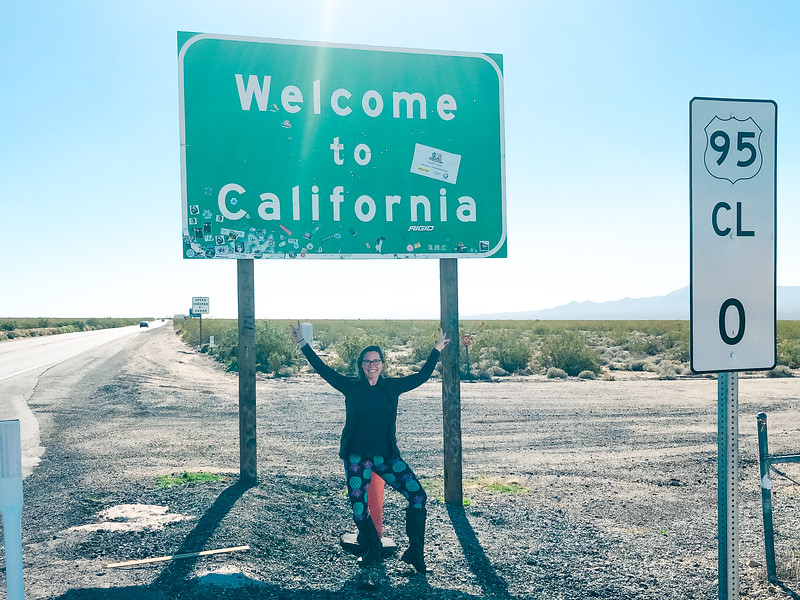 Made a wrong turn and briefly crossed the California state line