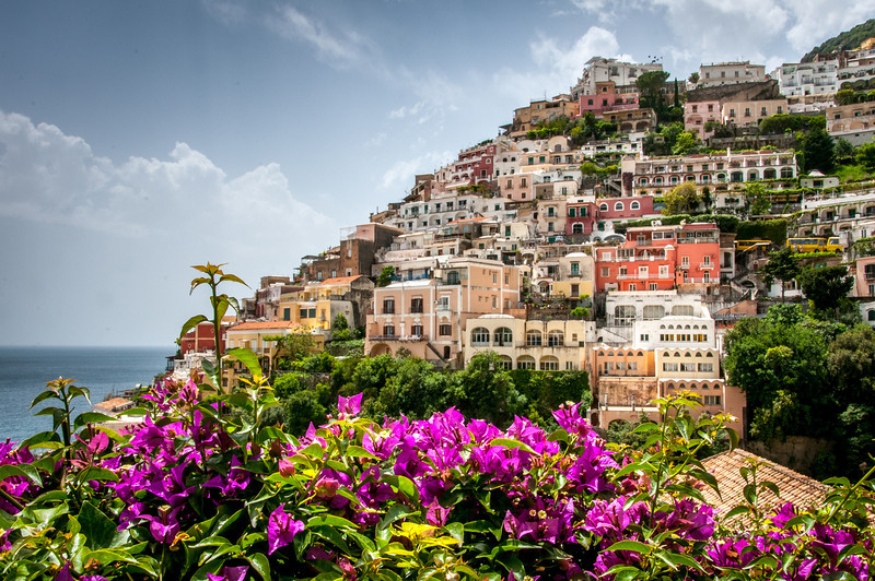 Traditional houses at the Amalfi Coast in Italy