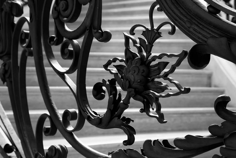 Paris Ironwork Flower Detail