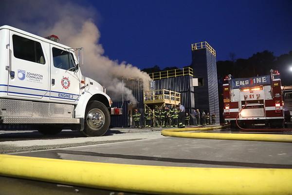 New JCC  Fire Tower First Burn