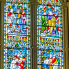 Chancel windows left side - Parables <br> glass by Franz Meyer, Munich