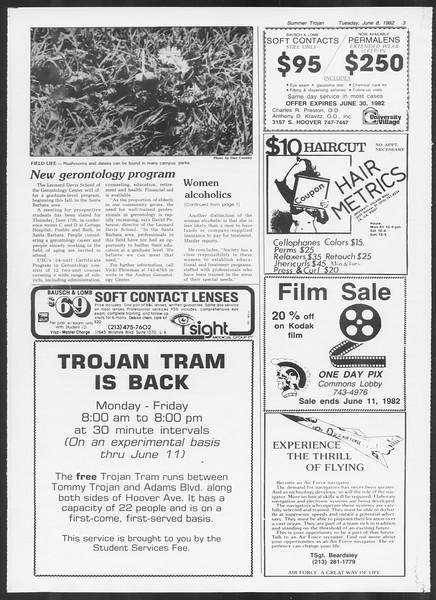 Summer Trojan, Vol. 91, No. 4, June 08, 1982