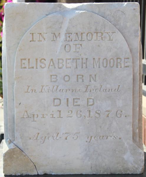 1876, Elizabeth Moore Tombstone