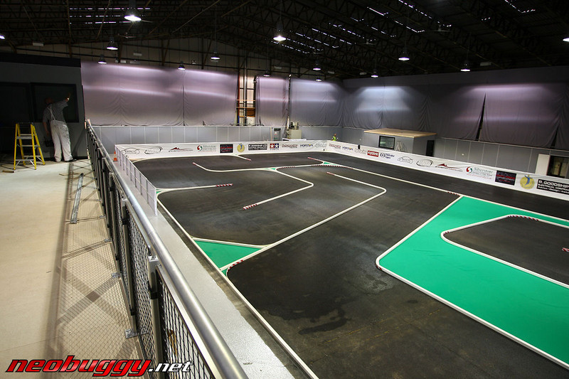 Indoor track as seen from drivers stand