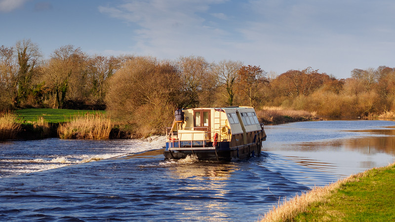 Barge on the River Barrow south of Athy