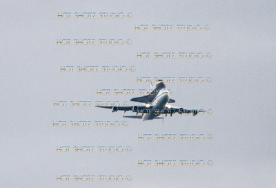 SPACE SHUTTLE DISCOVERY  FLYOVER 2012