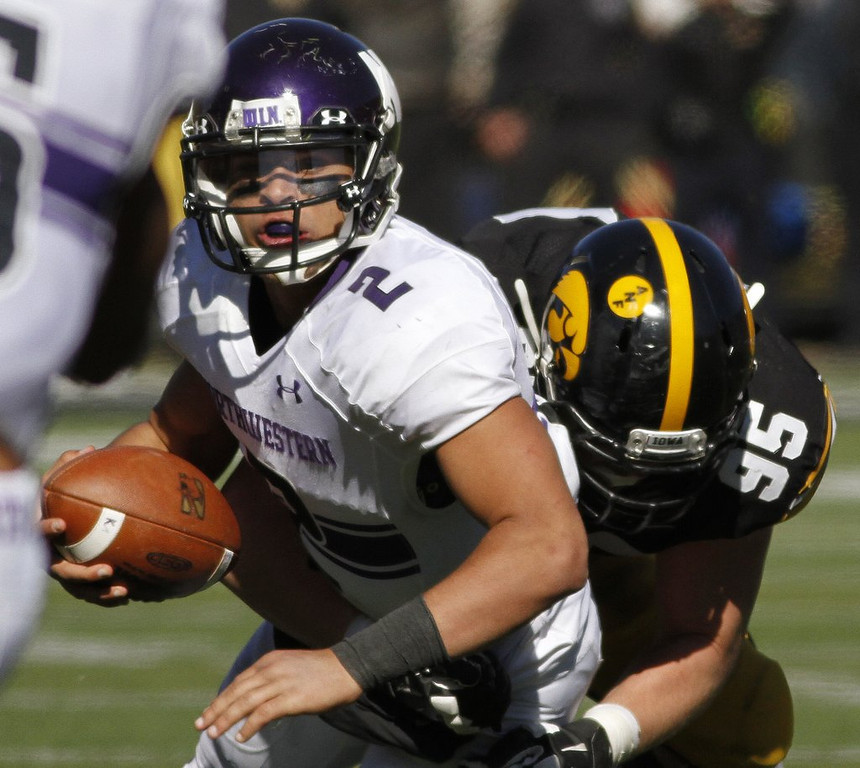 """. <p>10. (tie) NORTHWESTERN WILDCATS <p>Have more appearances at NLRB hearings than NCAA basketball tournaments. (3) <p><b><a href=\'http://www.sippinonpurple.com/northwestern-wildcats-football/2014/3/26/5551692/the-ncaa-released-a-statement-on-the-nlrb-ruling-and-it-is\' target=\""""_blank\""""> HUH?</a></b> <p>    (Matthew Holst/Getty Images)"""