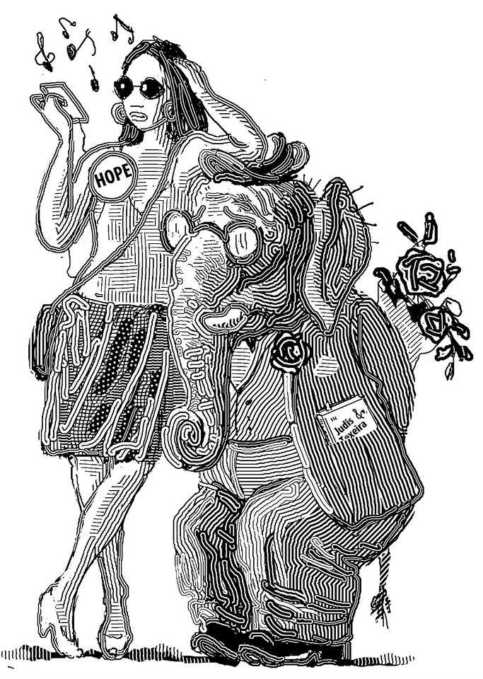 Illustration for the Claremont Review of Books; Summer 2009