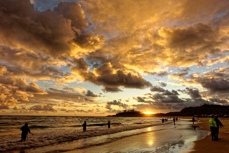 Dawn over Waddy Point, Fraser island.