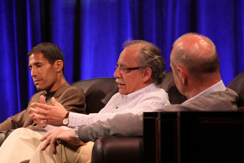 """One Cloud Serving Many Platforms, Applications, and Devices"": (L-R) Noam Ziv, VP, Engineering, Qualcomm; Mario Dal Canto, Chair and CEO, SIMtone; and Kris Halvorsen, SVP and Chief Innovation Officer, Intuit"