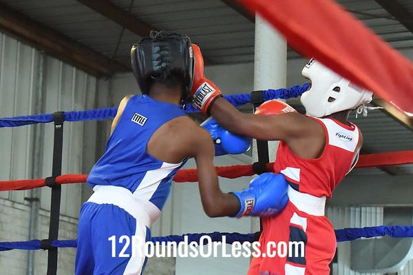 Bout 1 Arshaun Carter, Bar None Boxing -vs- James Bethel, Northside BC, 75 lbs, PeeWee Bout