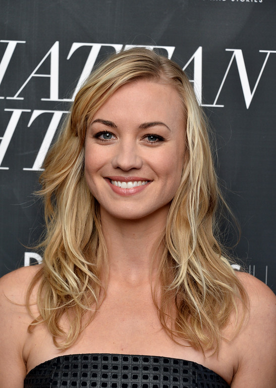 ". NEW YORK, NY - MAY 16:  Actress Yvonne Strahovski attends the ""Manhattan Night\"" New York screening at Regal Cinemas Union Square on May 16, 2016 in New York City.  (Photo by Andrew Toth/Getty Images)"