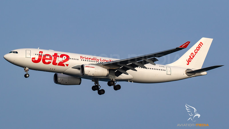 Jet2_A332_G-VYGL_white with red titles and Friendly Low Fares titles_ACE_20180708_Approach_Sun_MG_0513_AM.jpg