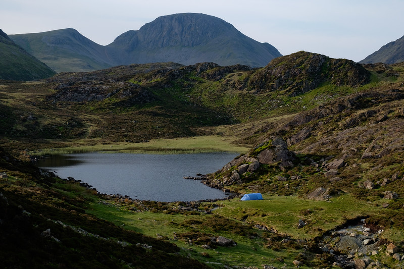 Wild camping at Blackbeck Tarn