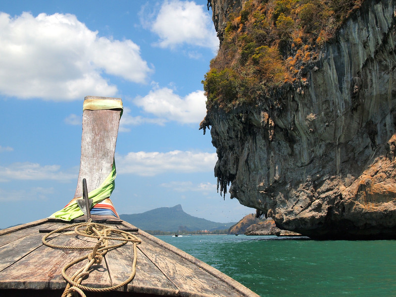 Longtail boat to Ao Nang from Railay