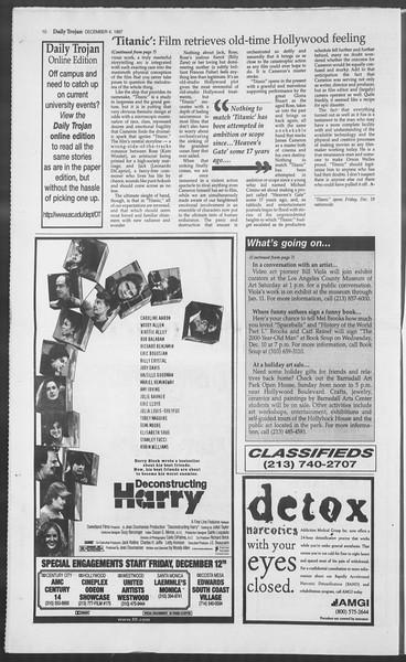 Daily Trojan, Vol. 132, No. 65, December 04, 1997