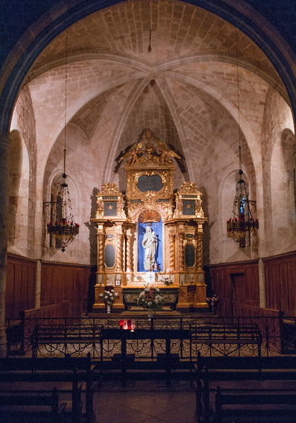 Kapellet Notre Dame de Beauvoir på klippan