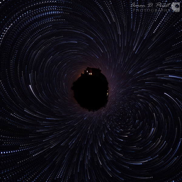 Full sky star trails