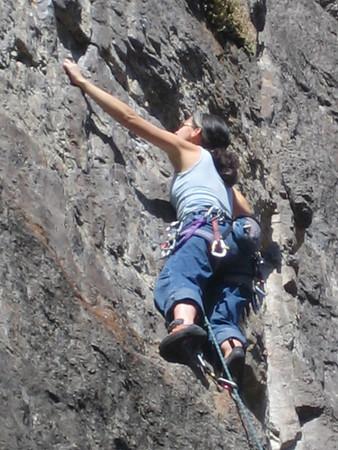 Mae goes climbing