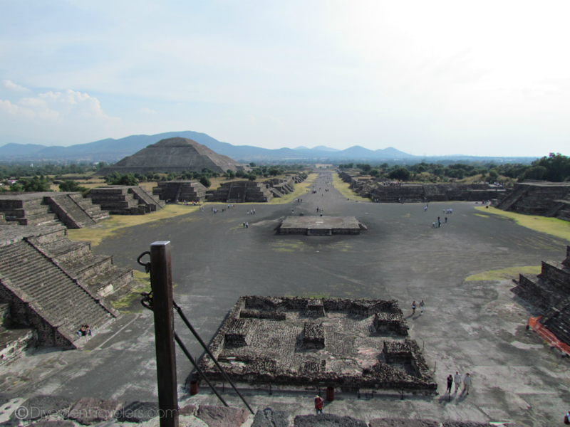 The view from the Pyramid of the Sun - best time to visit Mexico
